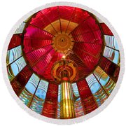 First Order Fresnel Lens Round Beach Towel