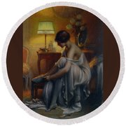 First Primers Round Beach Towel by Delphin Enjolras