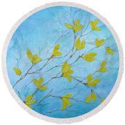 First Signs Of Spring Round Beach Towel