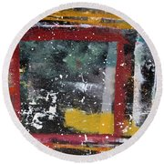 First Snowfall On The Square Round Beach Towel