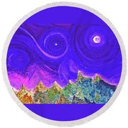 First Star Sunrise Round Beach Towel