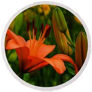 First To Bloom Round Beach Towel