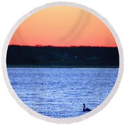 First To Sea Round Beach Towel