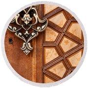 Firuz Aga Mosque Door 04 Round Beach Towel