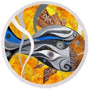 Fish 0465 - Marucii Round Beach Towel