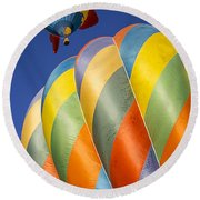 Fish In The Sky Round Beach Towel