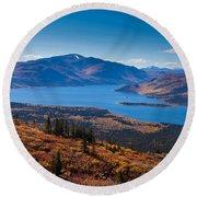 Fish Lake - Yukon Territory - Canada Round Beach Towel