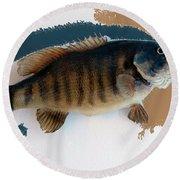 Fish Mount Set 10 Cc Round Beach Towel