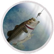 Fish On Round Beach Towel