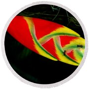 Fish Out Of Water Round Beach Towel