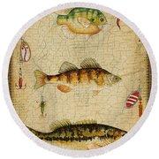 Fish Trio-c-basket Weave Round Beach Towel