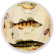 Fish Trio-c Round Beach Towel