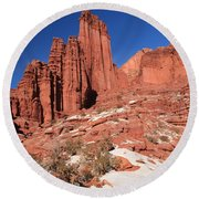 Fisher Towers Amphitheater Round Beach Towel