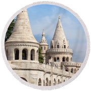 Fisherman Bastion In Budapest Round Beach Towel