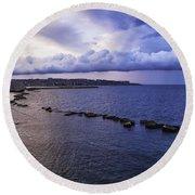 Fisherman - Sicily Round Beach Towel