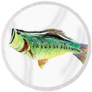 Fishermans Delight Round Beach Towel by Kip DeVore
