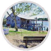 Fisherman's House  1 Round Beach Towel