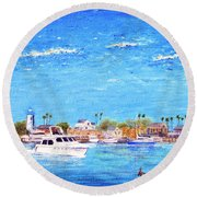 Fisherman's Village Round Beach Towel