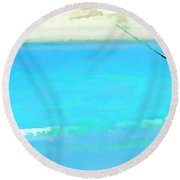 Fishermen At Coorong Round Beach Towel