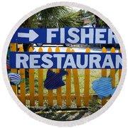 Fishery Round Beach Towel