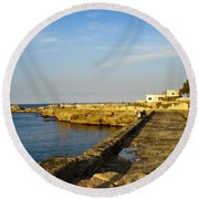 Fishing - Alexandria Egypt Round Beach Towel