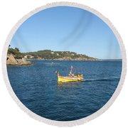 Fishing Boat - Cote D'azur Round Beach Towel
