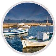 fishing boats 'XIII Round Beach Towel