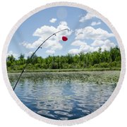 Fishing Round Beach Towel