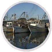 Fishing Fleet Round Beach Towel