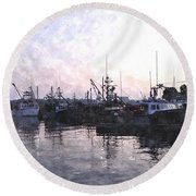 Fishing Fleet Ffwc Round Beach Towel