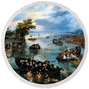 Fishing For Souls Round Beach Towel