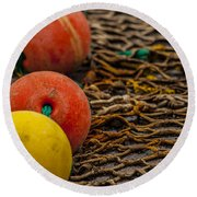 Fishing Gear Abstract Round Beach Towel