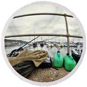Fishing Gear Round Beach Towel