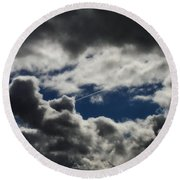Fishing In The Sky Round Beach Towel