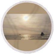 Fishing Montauk Round Beach Towel