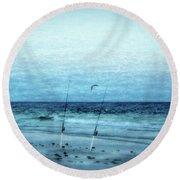 Fishing Round Beach Towel by Sandy Keeton