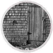Fishing Shed 12 Round Beach Towel