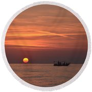 Fishing Since Before Sun-up Round Beach Towel