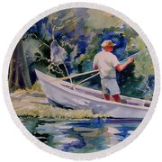 Fishing Spruce Creek Round Beach Towel