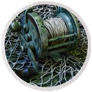 Fishing - That Old Fishing Reel Round Beach Towel