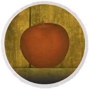 Five Apples  Round Beach Towel