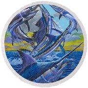 Five Billfish Off00136 Round Beach Towel by Carey Chen
