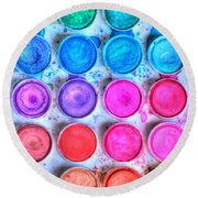 Five By Four Watercolor Round Beach Towel