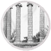 Five Columns Sketchy Round Beach Towel