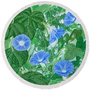 Five Faces Of Bridget Round Beach Towel