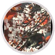 Five Petals - Spring Blossoms Round Beach Towel