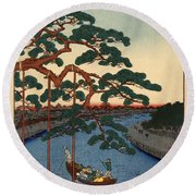 Five Pines Onagi Canal Round Beach Towel