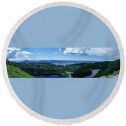 Fjord View Round Beach Towel