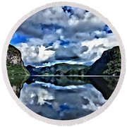 Fjords Of Norway Round Beach Towel