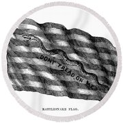 Flag: Dont Tread On Me Round Beach Towel